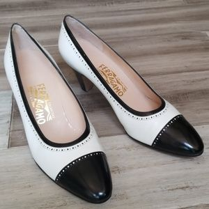 Vintage Salvatore Ferragamo Color Block Pumps